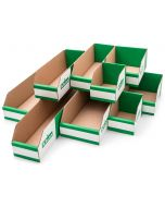 K-Bins Flat Pack Cardboard Parts Bins (100mm High)