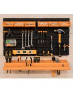 Wall Mounted Tool Rack/ Organiser With Parts Bins