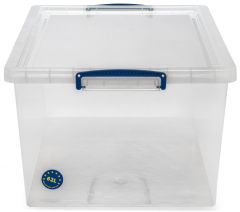 4, 8 & 12x 33.5L Nestable Really Useful Boxes - Clear C