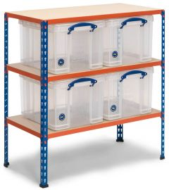 Storalex SX340 Workbenches - 340kg- with 4x 35L Clear Really Useful Boxes A
