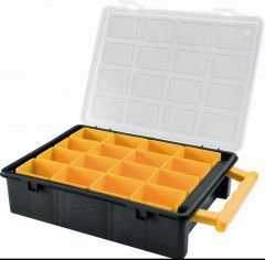 2x Tool Cases with 16 Removable Box Compartments and 5x Small Parts Storage Containers