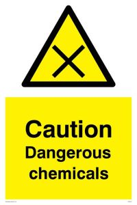 Caution Dangerous Chemicals - Warning Sign