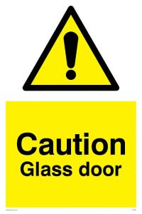 Caution Glass Door - Warning Sign