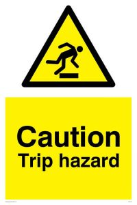 Caution Trip Hazard - Warning Sign