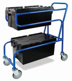 Double Container Trolley with Tote Boxes