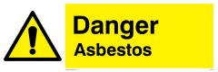 Danger Asbestos - Warning Sign