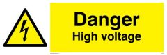 Danger High Voltage - Warning Sign