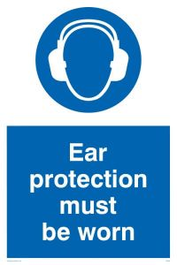 Ear Protection Must Be Worn - Mandatory Sign