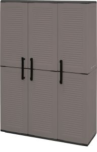 Storage Cupboards - Full Height - 3 Doors - Grey