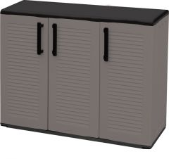 Storage Cupboards - Half Height - 3 Doors - Grey