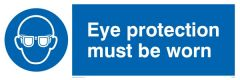 Eye Protection Must Be Worn - Mandatory Sign