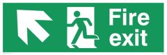 Fire Exit Diagonal Up Left - Emergency/Exit Sign
