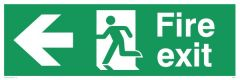 Fire Exit Left - Emergency/Exit Sign