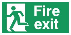 Fire Exit Sign Left - Emergency/Exit Sign