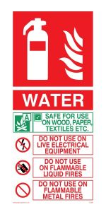 Fire Extinguisher Water Instructions - Mandatory Sign