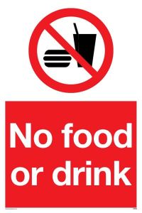 No Food & Drink - Prohibition Sign
