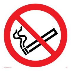 No Smoking Symbol Only - Prohibition Sign