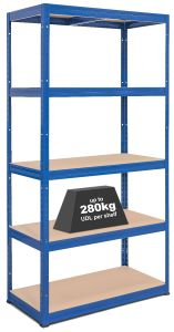 1x Storalex VRS Heavy Duty Garage Shelving - 280kg - Blue