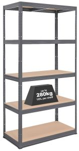 1x Storalex® VRS Heavy Duty Industrial Shelving - 280 / 325kg - Grey
