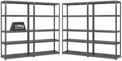 4x MT130 Metal Industrial Shelving - 130kg - Grey