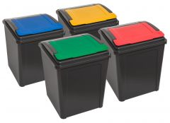 4x Recycling Bins with Flip Lids - Multibuy Offer