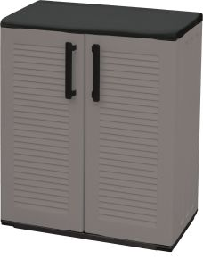 Storage Cupboards - Half Height - Grey