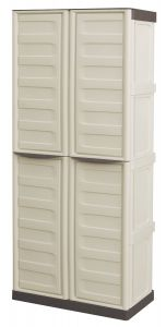 Storage Cupboards - Full Height - with Broom Holder - White