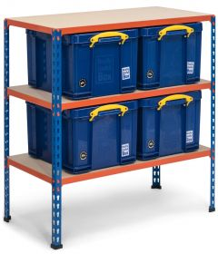 Storalex SX340 Workbenches - 340kg - with 4x 35L Blue Really Useful Boxes A
