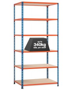 STORALEX SX340 BAY - 2440MM HIGH - (2 WIDTHS & 3 DEPTHS) - UP TO 340KG UDL - 6 LEVELS