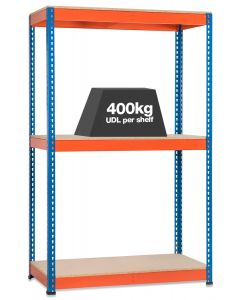 Storalex SX400 Bay - 1677mm High - (4 WIDTHS & 3 DEPTHS) - UP TO 400kg UDL - 3 LEVELS