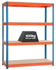 STORALEX SX400 BAY - 2440MM HIGH - (3 WIDTHS & 2 DEPTHS) - UP TO 400KG UDL - 4 levels