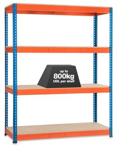 Storalex SX800 Shelving Bay - 3050mm High - 4 Chipboard Shelves - 800kg UDL
