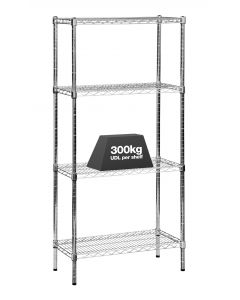 1x Eclipse Chrome Wire Shelving - 1820mm - 300kg