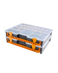 2x Tool Cases with Removable Dividers - 23 Compartments