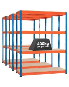 3 x Storalex SX400  Bays - 1980mm High - (4 Widths & 3 Depths) - Up to 500kg UDL - 3/4/5 levels