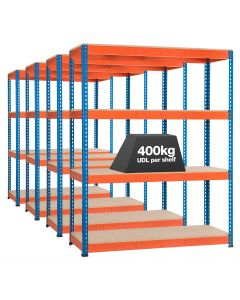 4 x Storalex SX400 Bays - 1980mm High - 1220W - (2 DEPTHS) - 400kg UDL - 4 levels