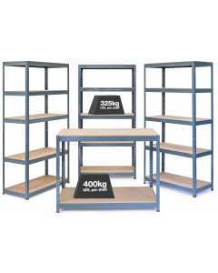Storalex Business Bundle - 3 x VRS Bays - 325kg UDL & Workbench - Graphite Grey