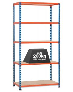 STORALEX SX200 BAY - 2.44M HIGH - (3 WIDTHS & depths) - UP TO 200KG UDL - 5/6 LEVELS