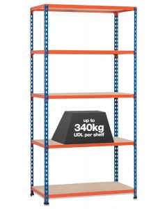 STORALEX SX340 BAY - 3050MM HIGH - (2 WIDTHS & 3 DEPTHS) - UP TO 340KG UDL - 5 LEVELS