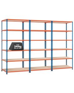 3 x Storalex SX340 Bays - 1980mm High - (4 widths & 3 DEPTHS) - UP TO 340kg UDL - 4/5/6 LEVELS