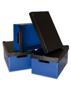 K-Bins Flat Pack Polypropylene Stacking Boxes Blue
