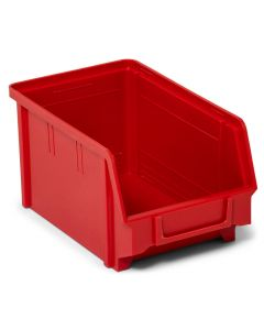 Pack of 12 Storalex Plastic Small Parts Picking Bins  177h x 305w x 480d - 5 Colours