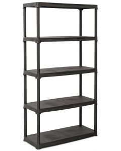 Plastic Shelving Bay - (4 Widths & 2 Depths) - 20KG UDL - Charcoal