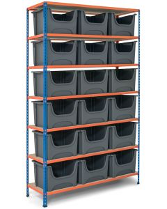 Storalex SX340 Bay - 2440mm High - With Large Stacking Pick Bins