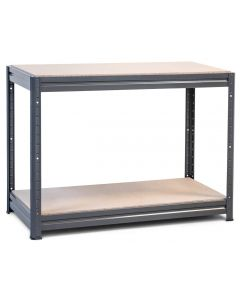1x Storalex HRX Workbenches - Chipboard - 600kg - Grey