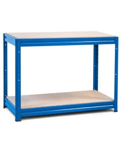 1x Storalex HRX Workbenches - Chipboard - 600kg - Blue