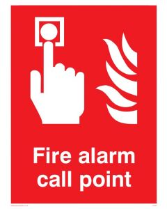 Fire Alarm Call Point - Prohibition Sign