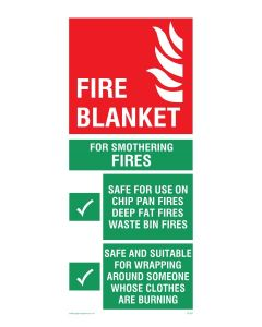 Fire Blanket Instructions - Mandatory Sign