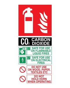 Fire Extinguisher Co2 Instructions - Mandatory Sign