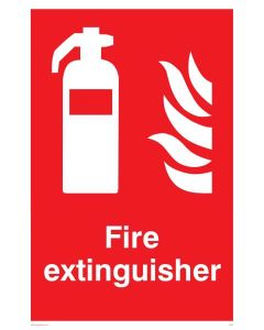 Fire Extinguisher - Prohibition Sign